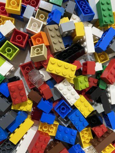 2x4 2x3 3x2 Job Lot of Random 100 nettoyé briques lego 4x2 2x2
