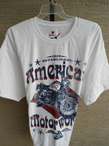 Hanes Beefy Heavy weight Cotton S//S Crew Neck  Motorcycle Graphic Tee Shirt 3XL