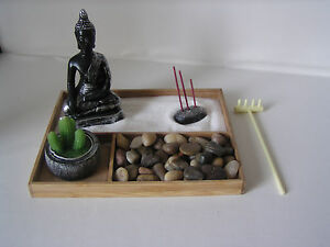 Das Bild Wird Geladen Deko Set Zen Garten Bambus Buddha Feng Shui