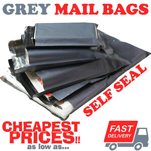 STRONG-GREY-MAILING-POST-MAIL-POSTAL-BAGS-POLY-POSTAGE-SELF-SEAL-ALL-SIZES-CHEAP