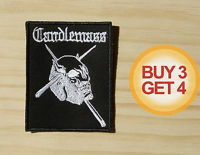 CANDLEMASS WT PATCH BUY3GET4,PENTAGRAM,TROUBLE,BLACK SABBATH,WITCHFINDER GENERAL