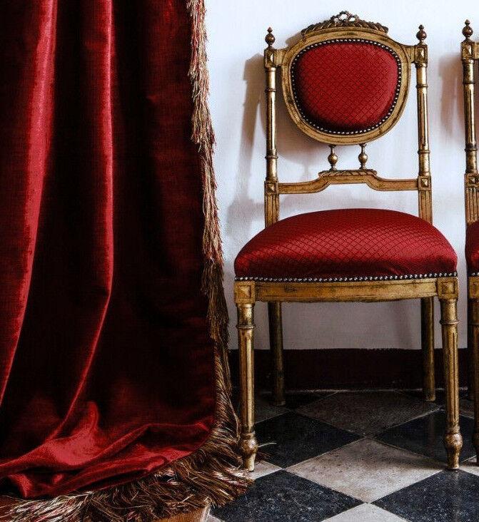 VIVARO  tela   tela   tapicería chenille   terciopelo del terciopelo   rojo   tapicería Carlucci