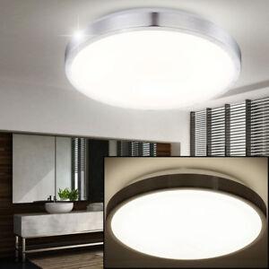 Details zu LED Design Flur Diele Bad Decken Lampe Badezimmer Leuchte rund  30 cm Beleuchtung