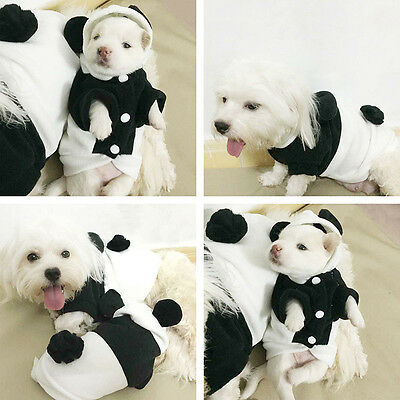 Panda Hoodie Costume Costumes Pet Coat Clothes Apparel Dog Winter Puppy Cat