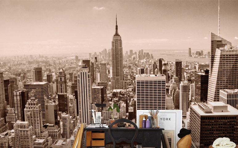 3D Misty New York 96 Wall Paper wall Print Decal Wall Deco Wall Indoor Murals
