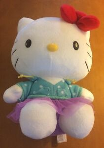 Hello Kitty With Blue Shirt and Purple Tutu 9""