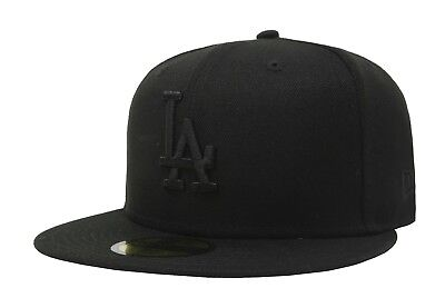 New Era 59Fifty Men Women Los Angeles Dodgers Hat Cap All Black Baseball LA
