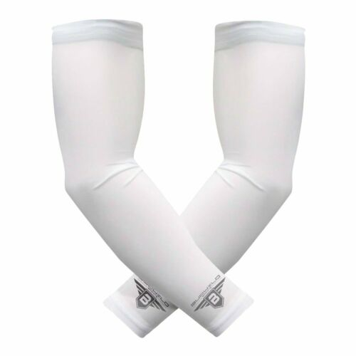 Compression Arm Sleeves 1 Pair 2 Sleeves Youth /& Adult Sizes Football Baseball