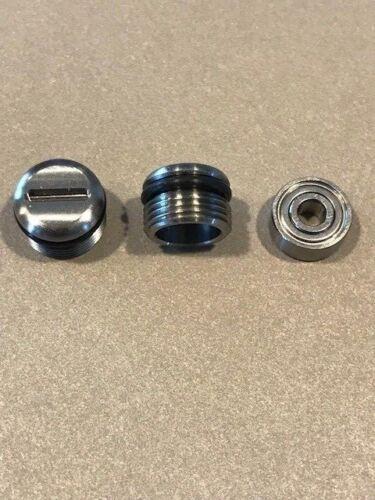 "332 338  /""Small/"" Stainless Steel Bearing Cap W//Hybrid Ball Bearing Newell 322"