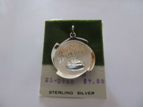 "Danecraft Sterling silver vintage /"" Happy Birthday /"" Charm"