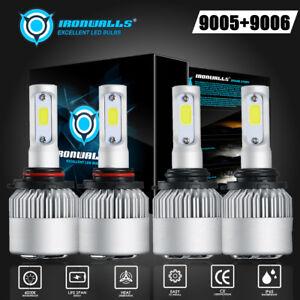4x-CREE-9005-9006-LED-3000W-225000LM-Headlights-Combo-Kits-High-Low-Beam-6000K