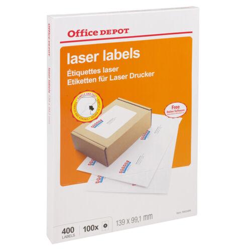 Office Depot Selbstklebend Weiß Klebend Adresse Etikett für Inkjet Laser Drucker