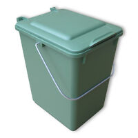 Neue Futtertonne Plastikeimer Tierfutter Box Behälter Mit Deckel 10 Liter Grün.