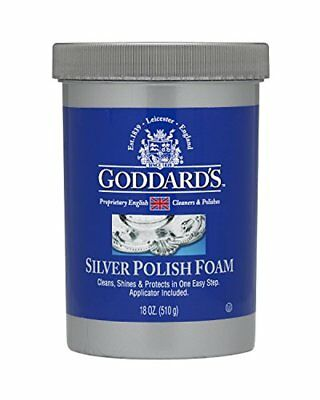 Goddard's Silver Polish, 18 Oz - Tarnish Remover With Sponge Applicator Het Speeksel Verversen En Verrijken