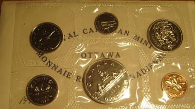 6 Coins UNC. 1972 Canada PL RCM Set