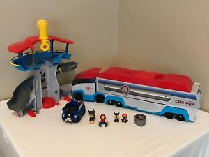 Paw-Patrol-Paw-Patroller-Transporter-ATV-Truck-Lookout-Tower-Playset-Figures
