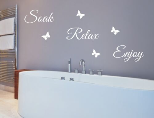great quality words for walls free post Wall sticker quotes Soak Relax Enjoy