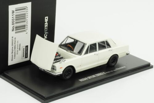 Nissan Skyline 2000 GT-R 4 doors 1969 PGC10 weiss Haube zu öffnen ww 1:43 Kyosho
