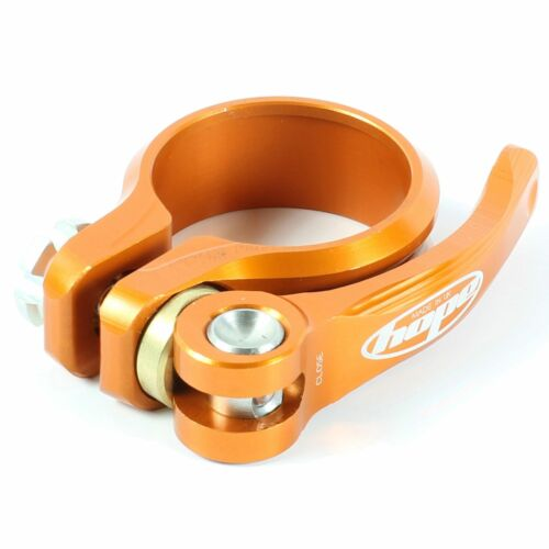 Hope Technology Bike Seat Clamp 31.8mm Diameter Orange Quick Release