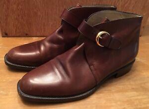 454d250ab72b9 Bob Ellis Vero Cuoio Brown SZ 8 US EU 38.5 Booties Ankle Boots Made ...