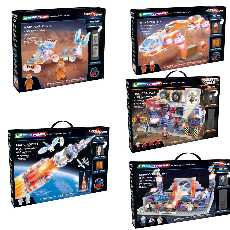 LED Bausteine Raketen Weltall Kosmos Spielzeug LaserPegs Varianten große Wahl