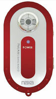 Naxa Am Fm Compact Personal Portable Radio Red With Earbuds And Carrying Strap