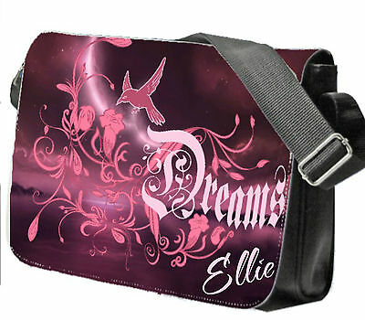 Personalised Girl/'s Labrador Puppy School Bag College Laptop Bag add a name free