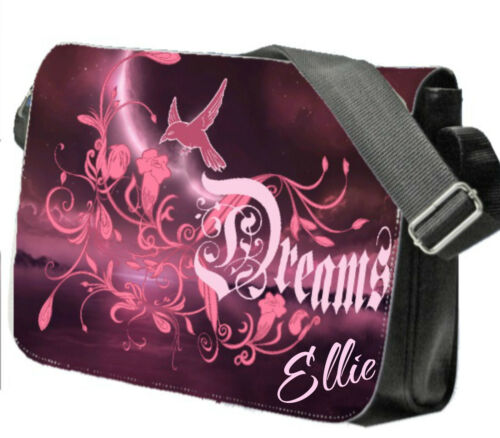 Personalised Girl/'s Dreams School Bag College Laptop Bag add a name free