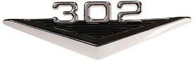 302 Mustang Emblem Badge 1964 1965 1966 64 65 66 V8 Convertible Fastback Coupe