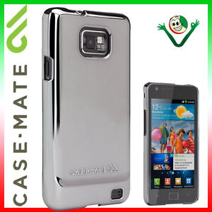 Pellicola-Custodia-cover-CASE-MATE-METALLIC-SILVER-per-Samsung-Galaxy-S2-i9100