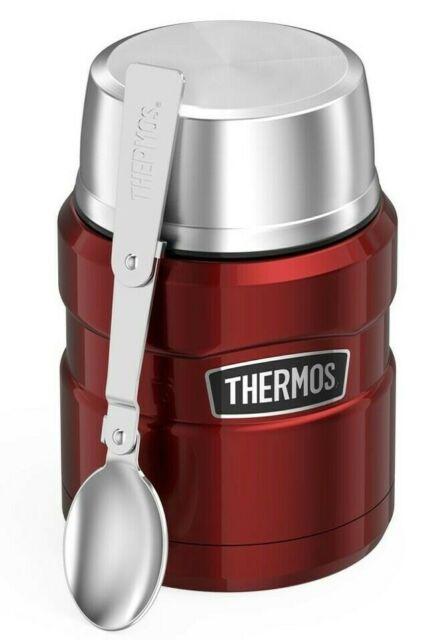 16 oz Food Jar Travel Tumbler Mug Folding Spoon Vacuum Stainless Steel