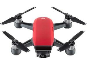 DJI Spark Palm Launch Quadcopter Drone with UltraSmooth Camera, Lava Red, CP.PT.