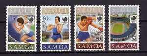 13582) Samoa 1988 MNH Olympic G. Seoul
