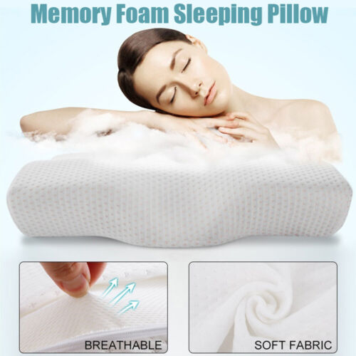 Memory Foam Sleep Pillow Contour Cervical Orthopedic Neck Support Breath Pillows