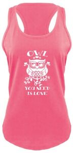 Owl-You-Need-Is-Love-Funny-Ladies-Tank-Top-Relationship-Valentine-039-s-Day-Gift-Z6