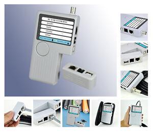 Tester Cables BNC RJ11 RJ45 USB/Continuity/Droit-Croisé / Short Circuits
