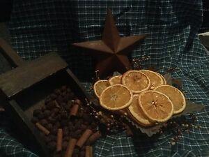Prim Dried Orange Slices Bowl Filler Canning Jar Filler Home Decor  Primitive