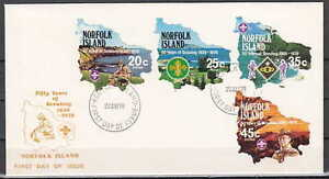 / Norfolk Is., Scott cat. 231-234. Scouting issue on a First day cover.