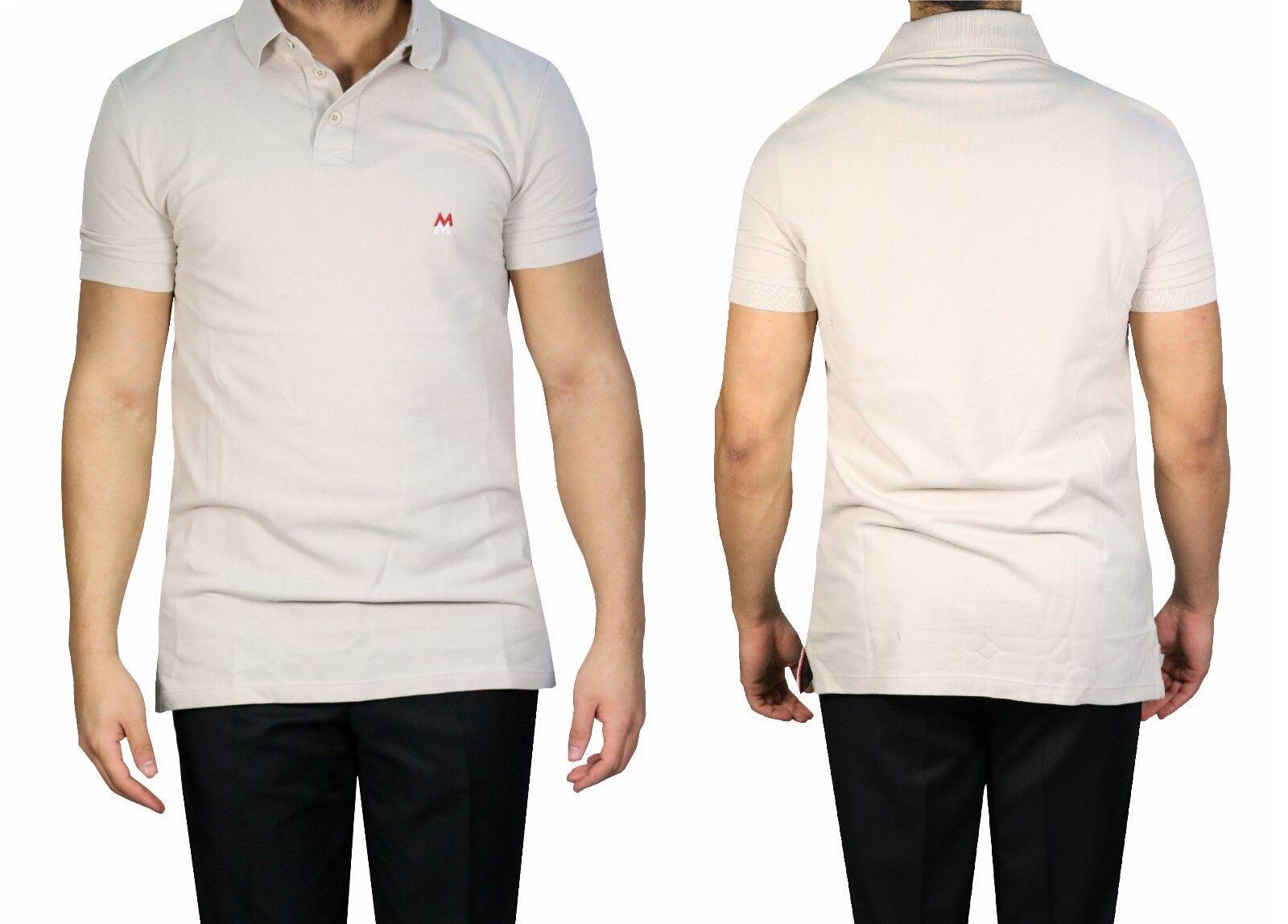 Muga Slim-fit Herren Herren Herren Poloshirt Gr.4XL Beige | Sale Outlet  | Hochwertige Materialien  cc3977