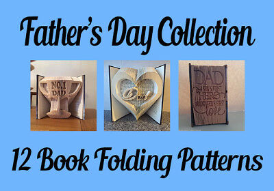 12 Book folding patterns FYOB Father/'s Day Collection Book Folding Patterns