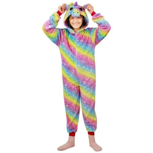 Kids Girls Unicorn A2Z Onesie One Piece Soft Rainbow Galaxy Xmas Cosplay Costume