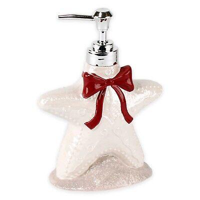 Goedkope Verkoop Coastal Starfish W/red Bow Kitchen/bath Lotion/soap Pump Dispenser 4x2.75x6.75