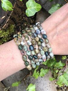 Ocean Jasper Bracelet Nugget Crystal Healing Gemstone POSITIVITY FORGIVE