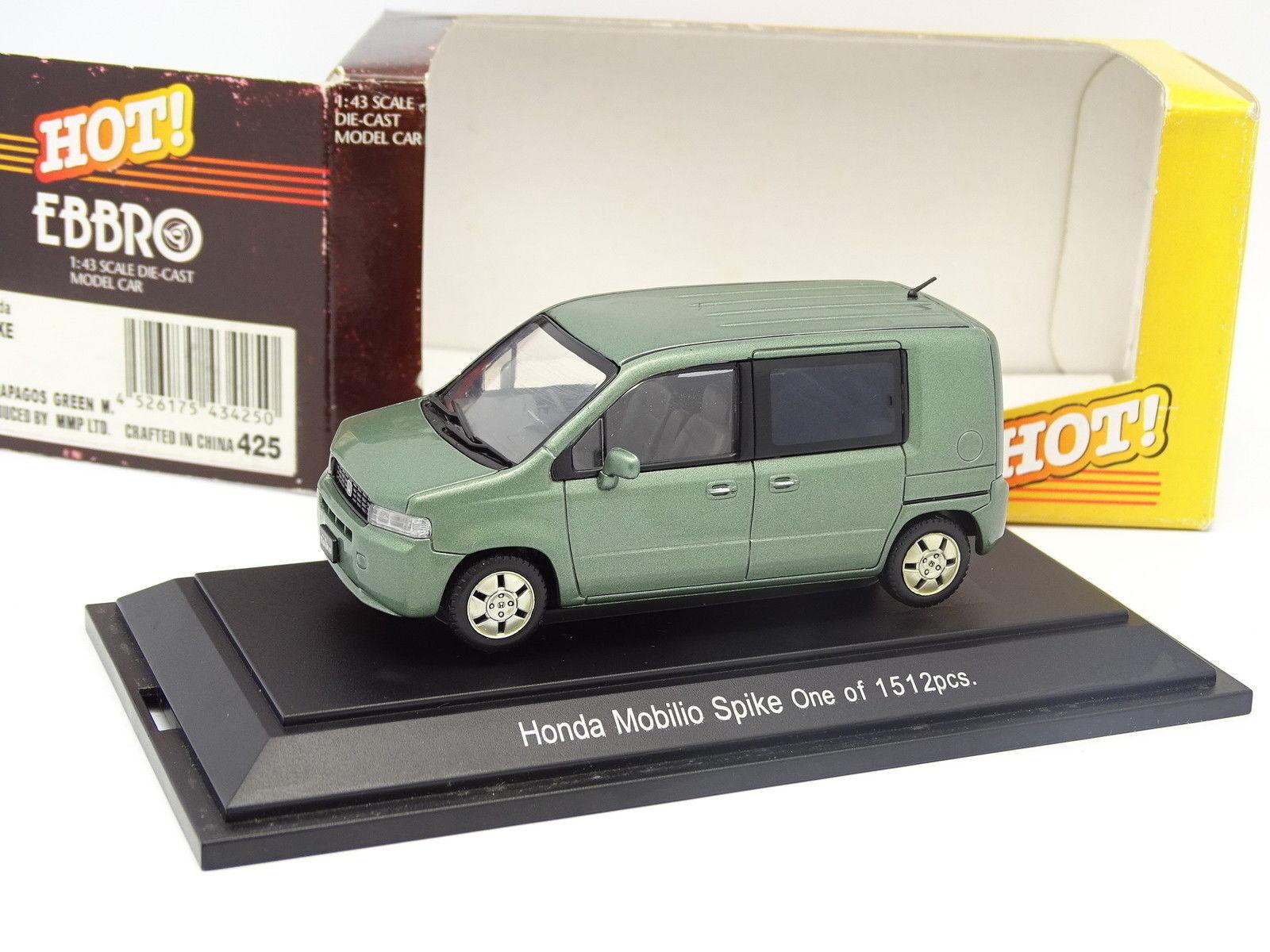 Ebbro 1 43 - Honda Mobilio Spike One Grün  | Wirtschaft