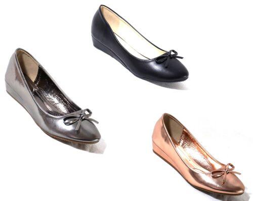 Pumps Shoes Keilabsatz Ballerina Flats Wedges Widges Damen Ballerinas Schuhe w6pq7A6