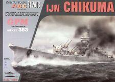 Japanese cruiser IJN Chikuma paper model 1:200 huge 101cm