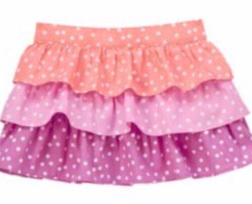 Gymboree Pinwheel Pastels 4T 5T Polka Dot Ruffled Skirt Pink Purple Summer 14
