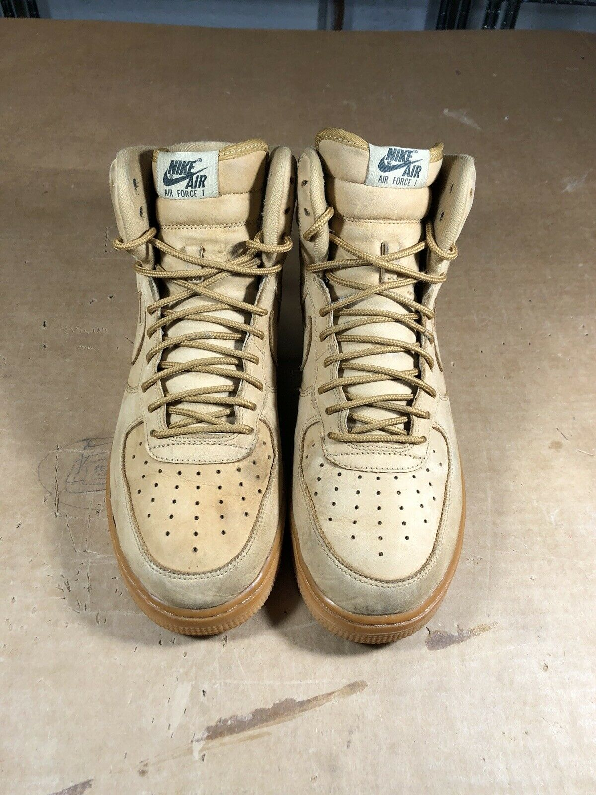 100% Authentic Nike Air Force Force Force 1 High Wheat (2016) Size 10 882096 200 6cc7c4