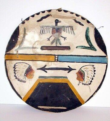 "San Ildefonso Pueblo DANCE SHIELD ca 1900 14.5"""