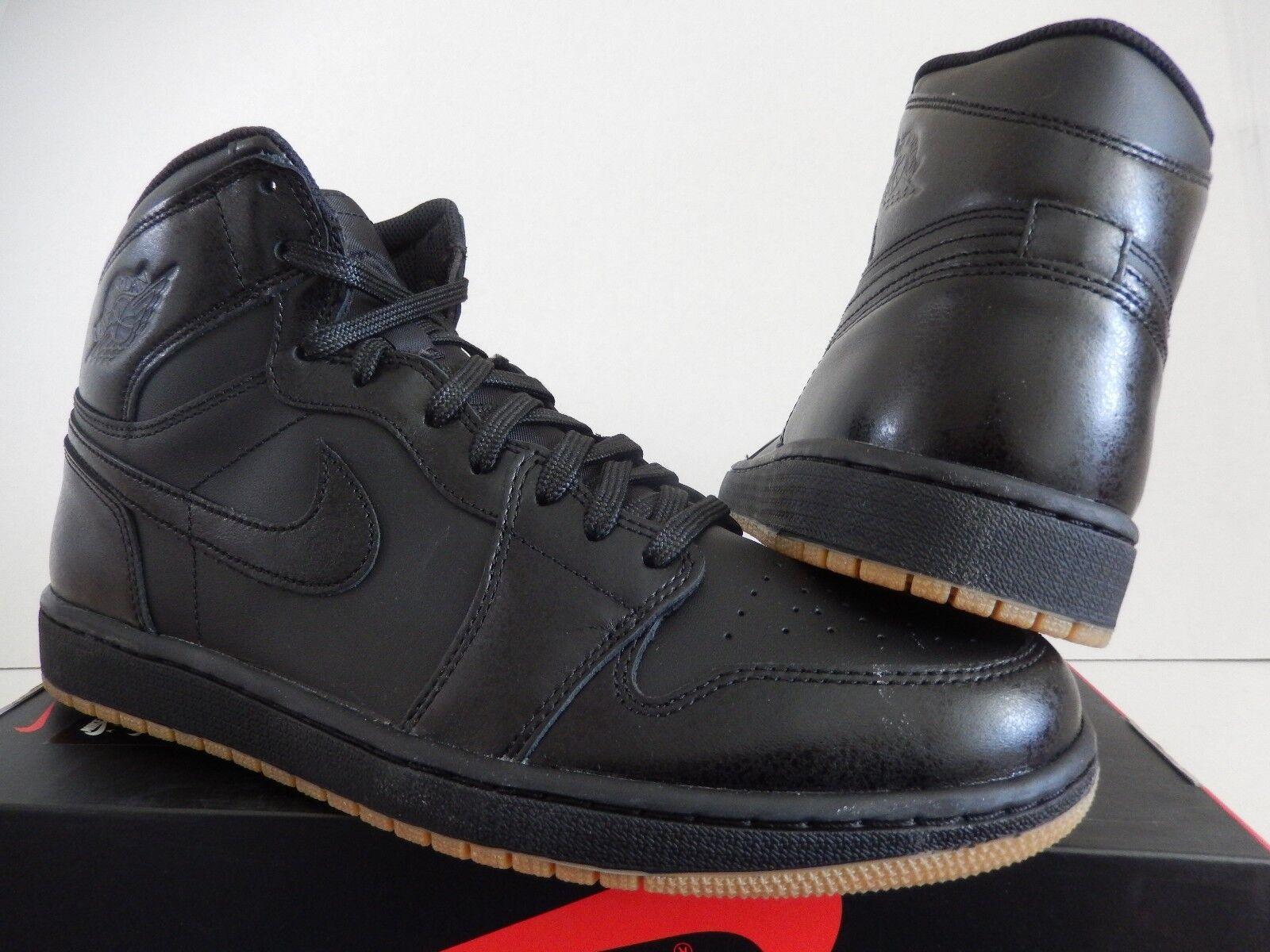 Nike air jordan 1 og 'alto og 1 nero-nero-gum castano sz 10 [555088-020] b08d58